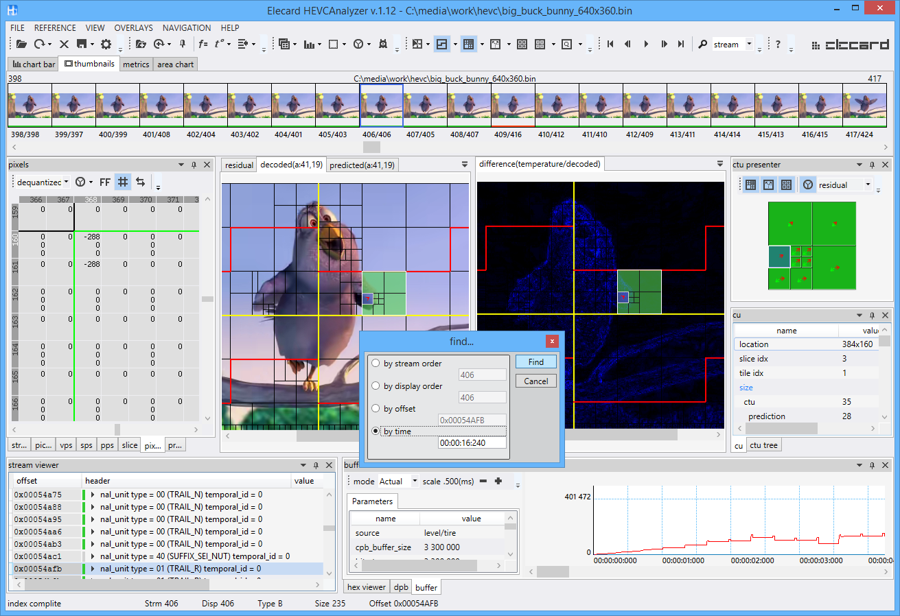 HEVC Analysers - Vcodex